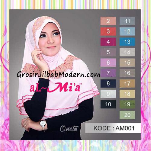 Jilbab Instant Bergo Lace Trendy by Almia
