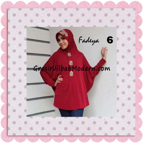 Jilbab Instant Lengan Bergo Inindia Simple Original Fadeya Brand No 6 Maroon