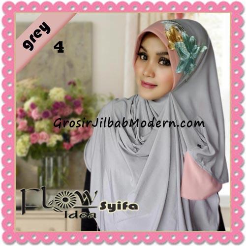Jilbab Instant Syria Pet Two Tone Syifa Original by Flow Idea No 4 Grey