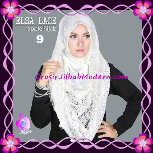 Jilbab Instant Terbaru Elsa Lace Hoodie Premium by Apple Hijab Brand No 9 Broken White