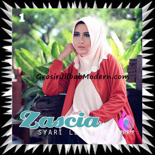 Jilbab Lengan Bergo Pet Syar'i Zascia Original by Apple Hijab Brand No 1 Peach