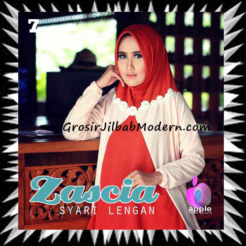 Jilbab Lengan Bergo Pet Syar'i Zascia Original by Apple Hijab Brand No 7 Teracota Peach