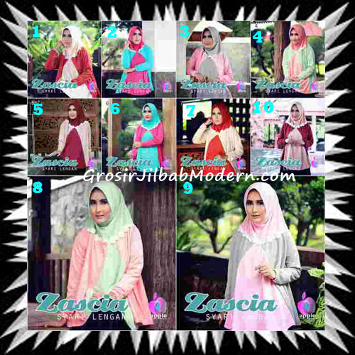 Jilbab Lengan Bergo Pet Syar'i Zascia Original by Apple Hijab Brand Series