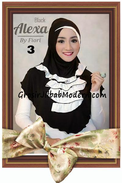 Jilbab Modern Cantik Syria Daily Alexa by Fiori Design No 3 Hitam