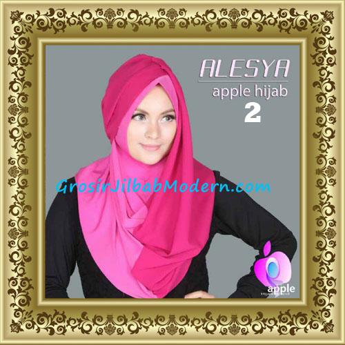 Jilbab Pashmina Instant Alesya Hana Premium by Apple Hijab Brand No 2 Fuchia