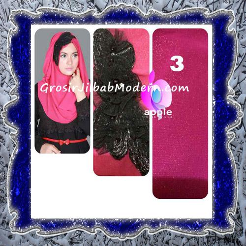 Jilbab Pesta Modern Pastan Deasy Cantik Original by Apple Hijab Brand No 3 Fanta
