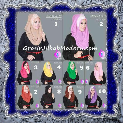 Jilbab Pesta Modern Pastan Deasy Cantik Original by Apple Hijab Brand Series