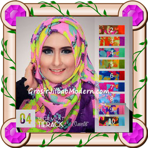 Jilbab Segi Empat Modern Bahan Tierack Oneto Seri 4