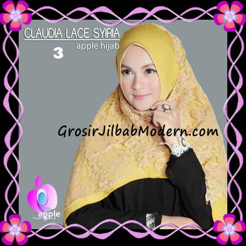 Jilbab Syria Modern Claudia Lace Trendy Original By Apple Hijab Brand No 3
