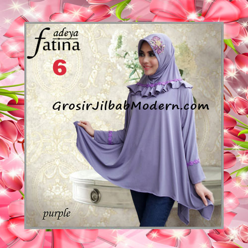 Jilbab Bergo Lengan Fatina Modis dan Cantik Original by Fadeya No 6 Purple