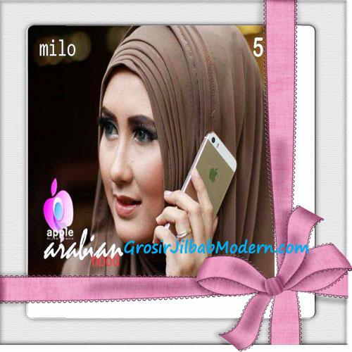 Jilbab Hoodie Instan Arabian Seri 2 by Apple Hijab Brand No 5 Milo