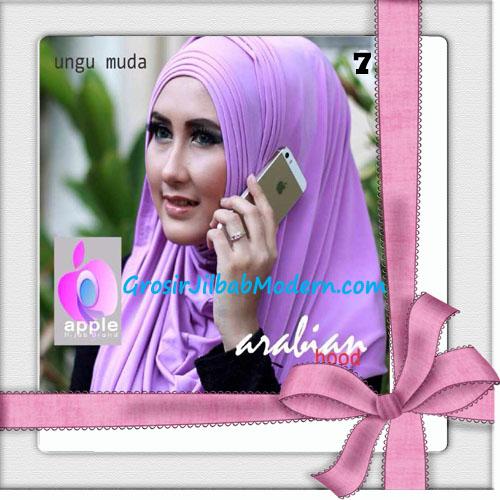 Jilbab Hoodie Instan Arabian Seri 2 by Apple Hijab Brand No 7 Ungu Muda