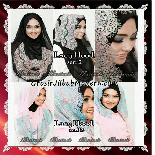 Jilbab Hoodie Instant Modern Trendy Lacy Hood Seri 2 Original By Narinda