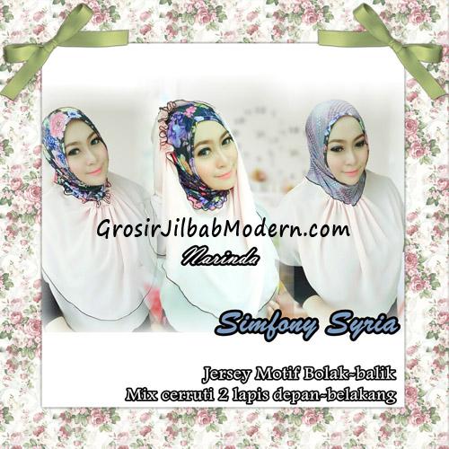 Jilbab Instant Cantik Simfony Syria Bolak Balik Original By Narinda - Detail