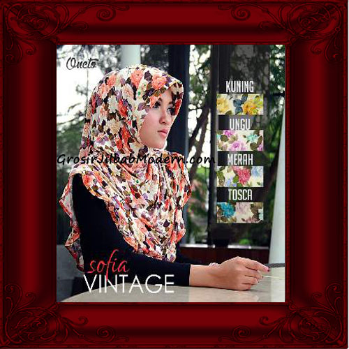 Jilbab Instant Modern Cantik Sofia Vintage