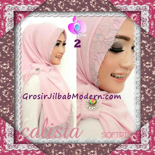 Jilbab Instant Modis Arzeti Calista Premium Original By Apple Hijab Brand No 2 Soft Pink