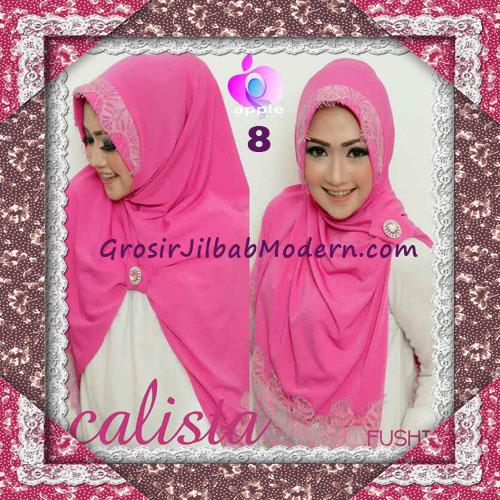 Jilbab Instant Modis Arzeti Calista Premium Original By Apple Hijab Brand No 8 Fushia