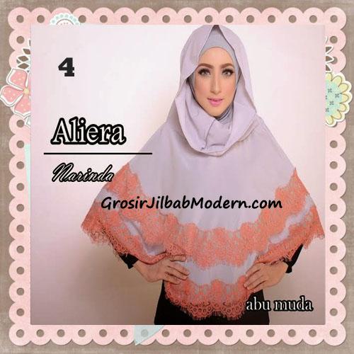 Jilbab Instant Modis Cantik Aliera Hoodie by Narinda No 4 Abu Muda