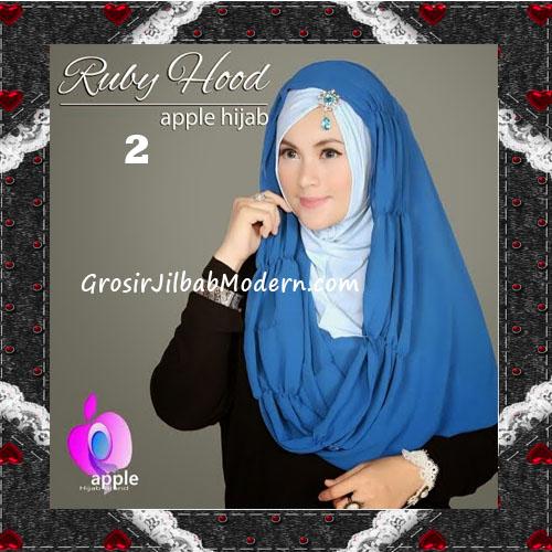 Jilbab Instant Modis Premium Ruby Hoodie Original By Apple Hijab Brand No 2 Turqish