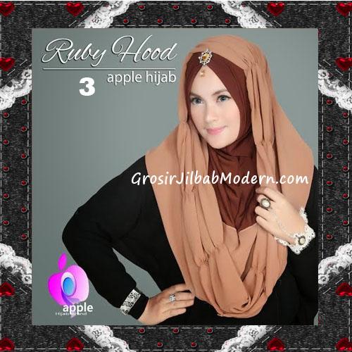 Jilbab Instant Modis Premium Ruby Hoodie Original By Apple Hijab Brand No 3 Bronze