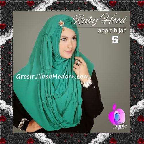 Jilbab Instant Modis Premium Ruby Hoodie Original By Apple Hijab Brand No 5 Green