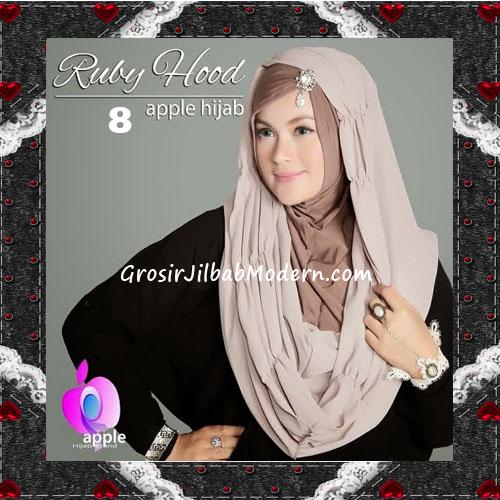 Jilbab Instant Modis Premium Ruby Hoodie Original By Apple Hijab Brand No 8 Khaki