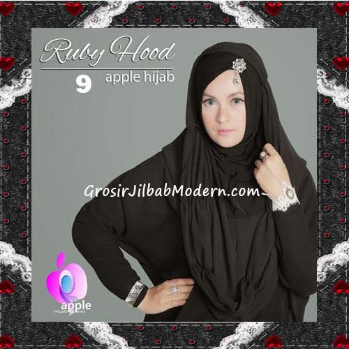 Jilbab Instant Modis Premium Ruby Hoodie Original By Apple Hijab Brand No 9 Black