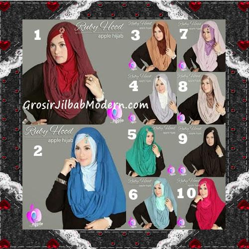Jilbab Instant Modis Premium Ruby Hoodie Original By Apple Hijab Brand Series