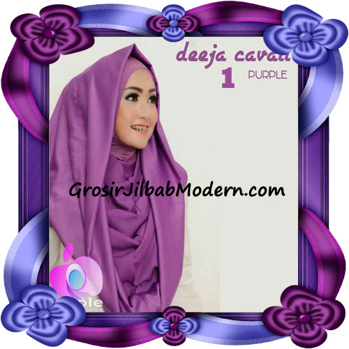 Jilbab Instant Modis Terbaru Deeja Cavali Hoodie Seri 2 Exclusive Original by Apple Hijab Brand No 1 Purple