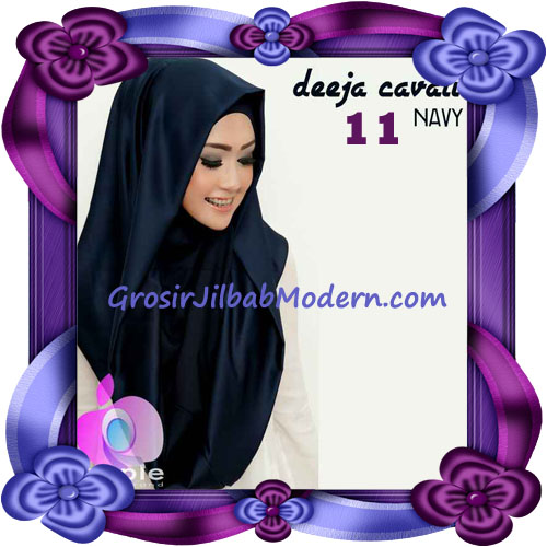 Jilbab Instant Modis Terbaru Deeja Cavali Hoodie Seri 2 Exclusive Original by Apple Hijab Brand No 11 Navy