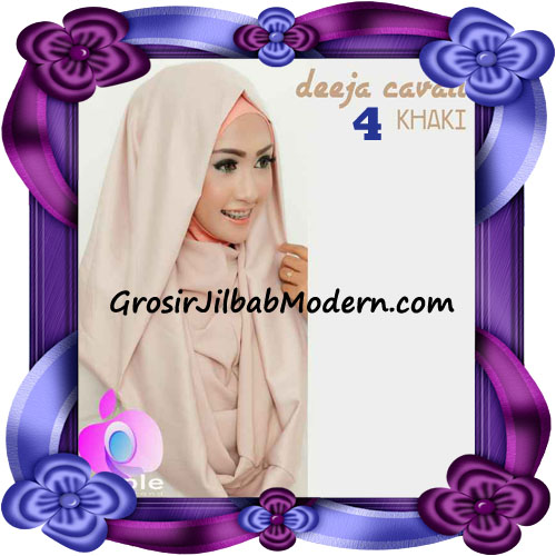 Jilbab Instant Modis Terbaru Deeja Cavali Hoodie Seri 2 Exclusive Original by Apple Hijab Brand No 4 Khaki