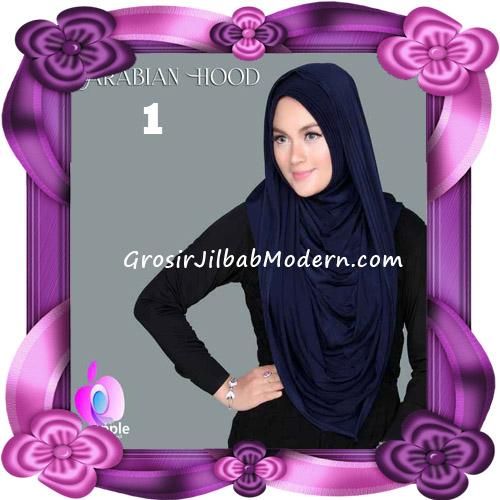 Jilbab Instant New Arabian Hoodie Simple dan Elegan By Apple Hijab Brand No 1 Navy