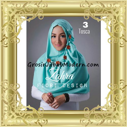 Jilbab Instant Syria Premium Zahra Terbaru By Fiori Design No 3 Tosca