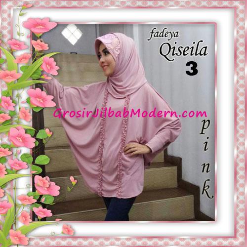 Jilbab Lengan Simple Modis Qiseila Original By Fadeya No 3 Pink
