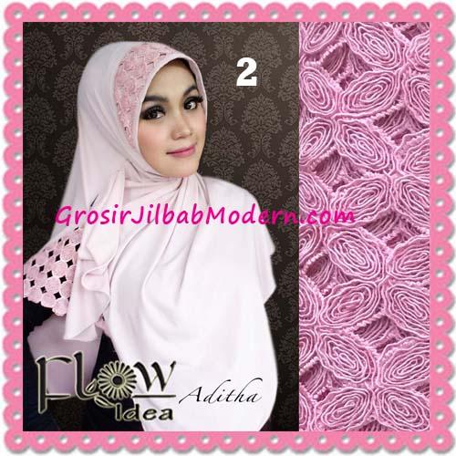 Jilbab Modern Terbaru Syria Aditha Original By Flow Idea No 2 Baby Pink