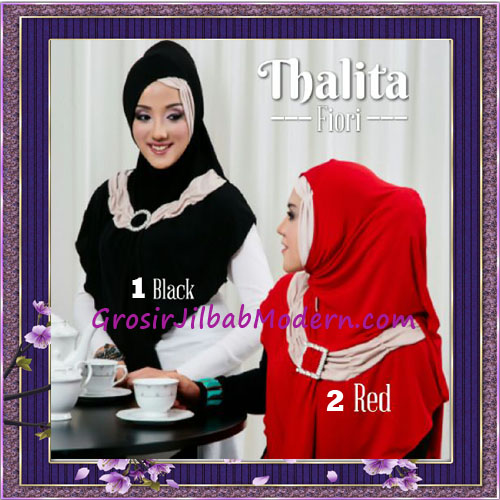 Jilbab Syria Instant Cantik Thalita Terbaru Original Fiori Design No 1, 2