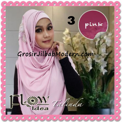Jilbab Syria Pashmina Instant Cantik Terbaru Talinda by Flow Idea No 3 Pink