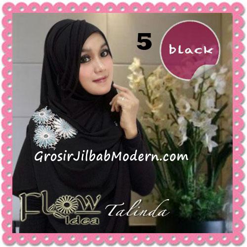 Jilbab Syria Pashmina Instant Cantik Terbaru Talinda by Flow Idea No 5 Black