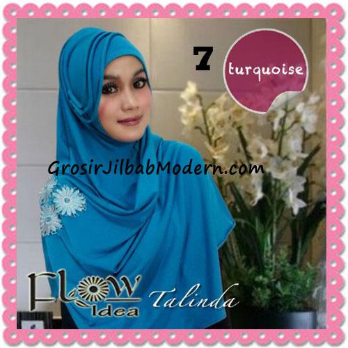 Jilbab Syria Pashmina Instant Cantik Terbaru Talinda by Flow Idea No 7 Turquoise