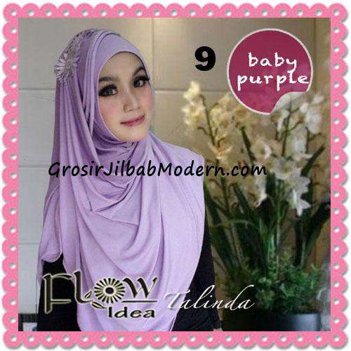 Jilbab Syria Pashmina Instant Cantik Terbaru Talinda by Flow Idea No 9 Baby Purple