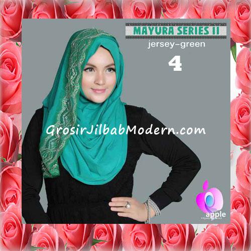 Jilbab Trendy Pashmina Instant Mayyura Seri 2 Original By Apple Hijab Brand No 4 Green