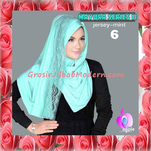 Jilbab Trendy Pashmina Instant Mayyura Seri 2 Original By Apple Hijab Brand No 6 Mint