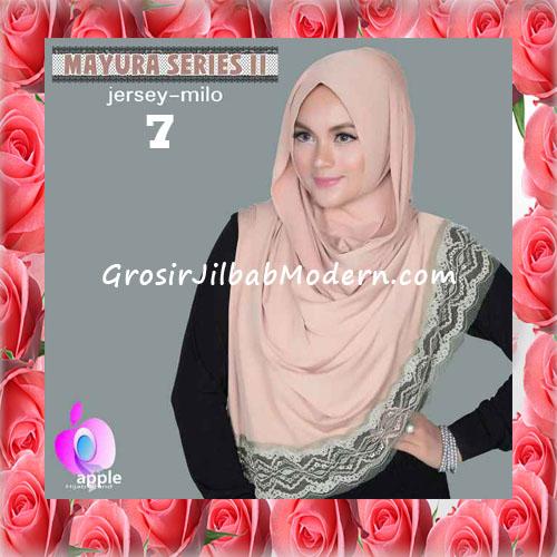 Jilbab Trendy Pashmina Instant Mayyura Seri 2 Original By Apple Hijab Brand No 7 Milo