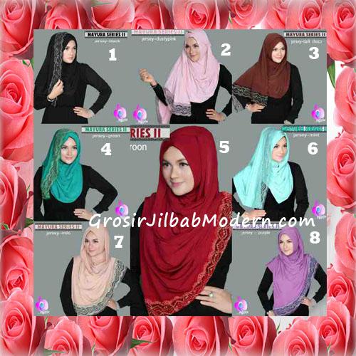 Jilbab Trendy Pashmina Instant Mayyura Seri 2 Original By Apple Hijab Brand Series