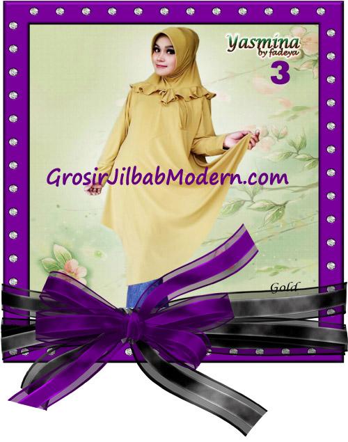 Jilbab Bergo Lengan Modis dan Cantik Yasmina Original By Fadeya No 3 Gold