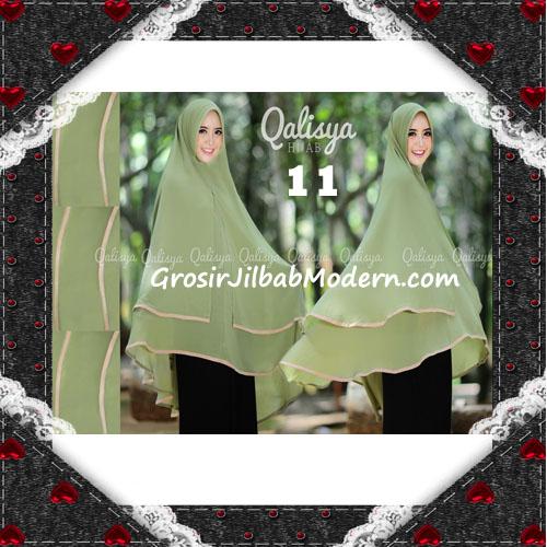 Jilbab Cerutti Jumbo Khimar Syar'i Taqiya Terbaru Original By Qalisya No 11