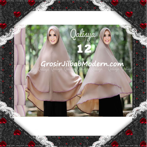 Jilbab Cerutti Jumbo Khimar Syar'i Taqiya Terbaru Original By Qalisya No 12