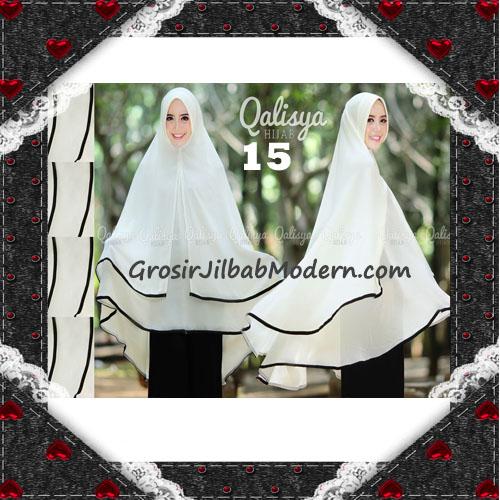 Jilbab Cerutti Jumbo Khimar Syar'i Taqiya Terbaru Original By Qalisya No 15