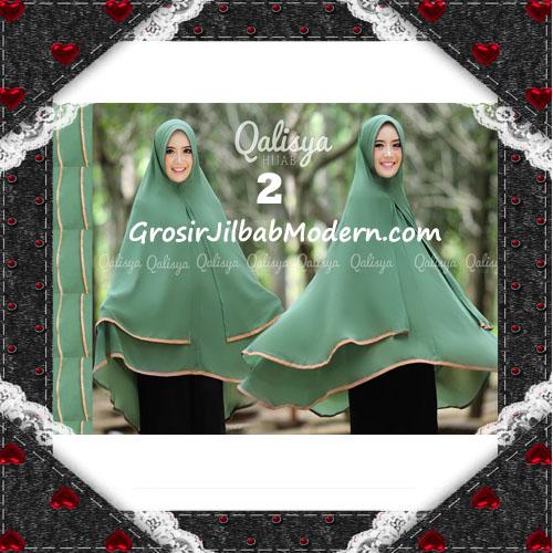 Jilbab Cerutti Jumbo Khimar Syar'i Taqiya Terbaru Original By Qalisya No 2