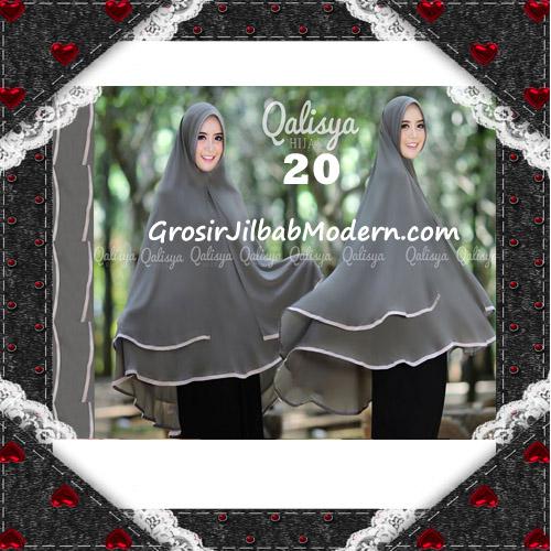 Jilbab Cerutti Jumbo Khimar Syar'i Taqiya Terbaru Original By Qalisya No 20